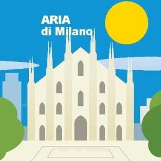 Logo dell'iniziativa Aria di Milano, usato sulle pagine Facebook e Instagram.