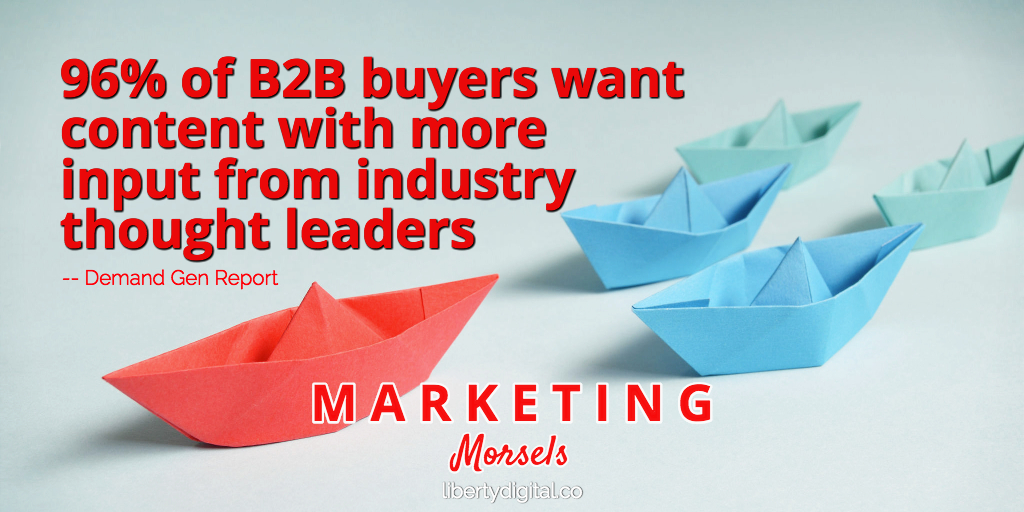 b2b content needs thought leaders