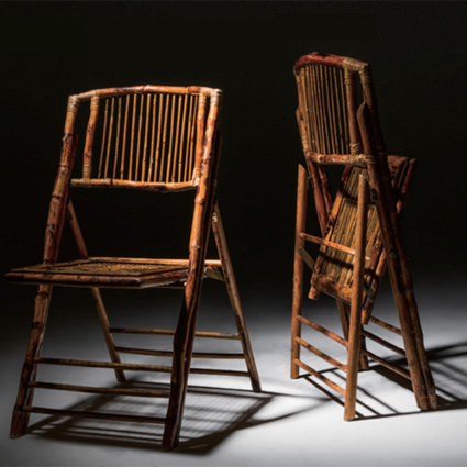 bamboo folding chair breuer chairs replacement seats and backs liberty event rentals spotlight