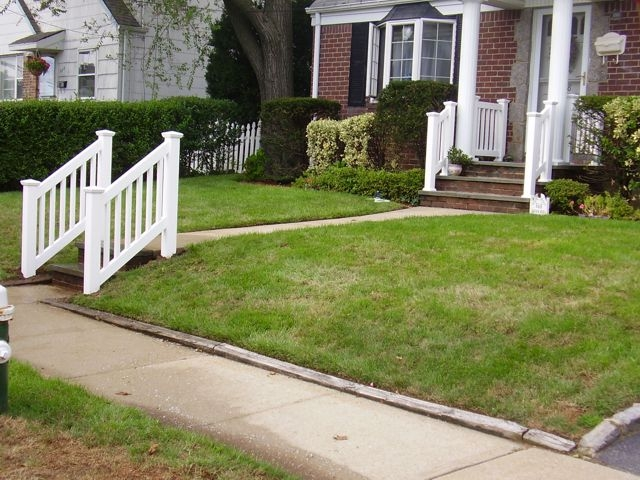 Outdoor Pvc Vinyl Railings Handrails Liberty Fence Railing | Outdoor Front Step Railings | Metal | Deck | Brick | Capozzoli Stairworks | Wood