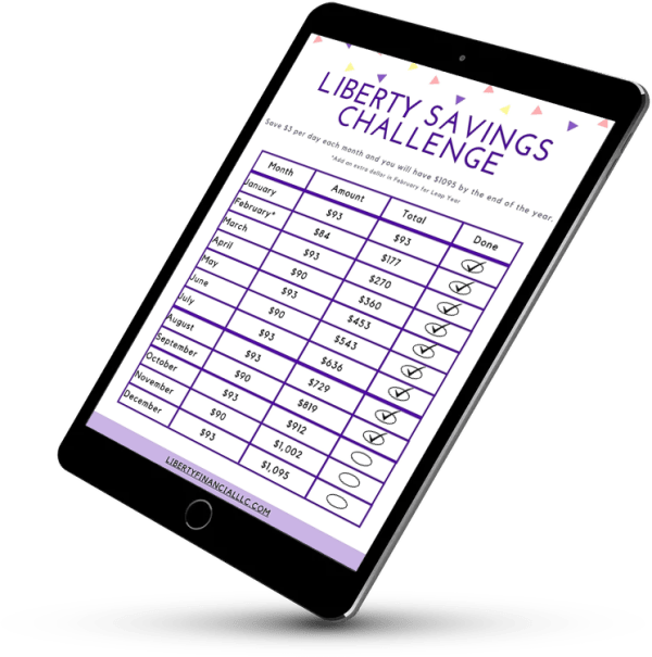 Liberty Savings Challenge Fillable