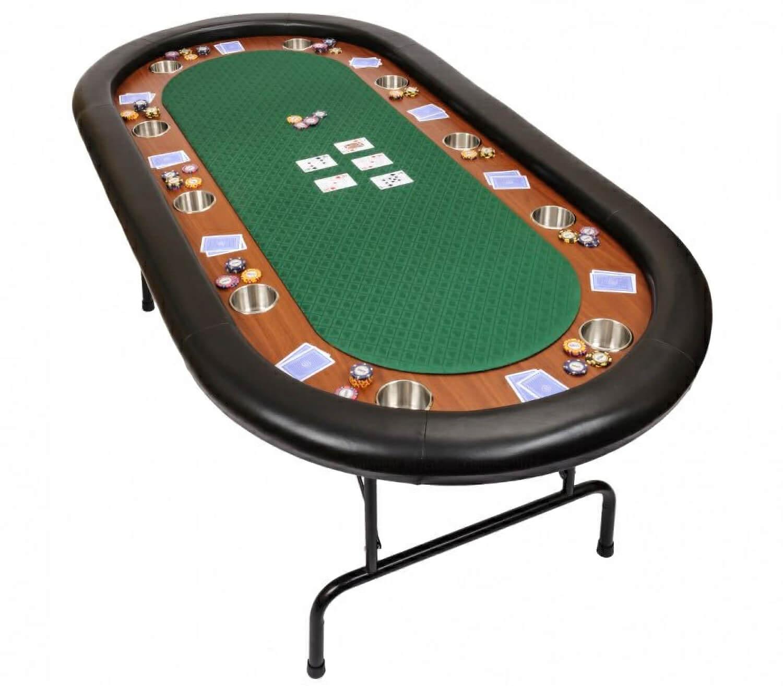 Premium Tournament Poker Table  Green (wfoldtablegreen