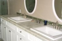 Tile Bathroom Countertops - Liberty Home Solutions, LLC