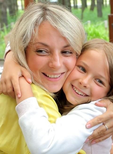 Дарья Сагалова и дочь
