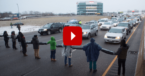 PROTEST TURNS DISASTER: When Threatened Driver Steps On The Gas [VIDEO]