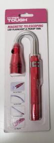 Hyper Tough 3512 Magnetic Telescoping LED Flashlight & Pickup Tool NEW