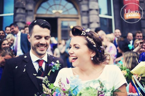 Gill and David Summer Hall wedding Scotland Edinburgh