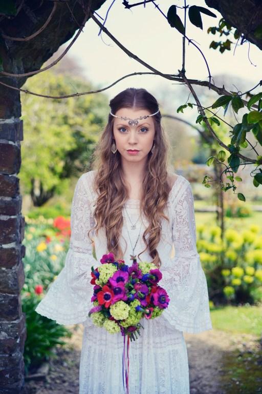 Clovelly House festival styled photo shoot wedding blue fizz events Devon wedding photography