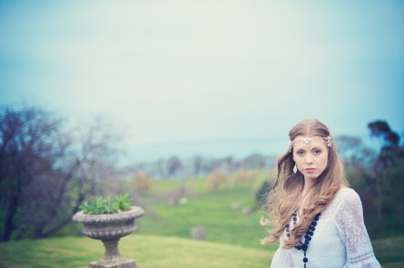 Vintage festival styled wedding photo shoot with Blue Fizz Events at Clovelly Court North Devon 24