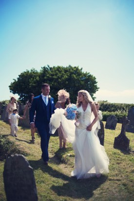 Jodie and Will wedding Polhawn Fort - Cornwall wedding photographer bride and groom
