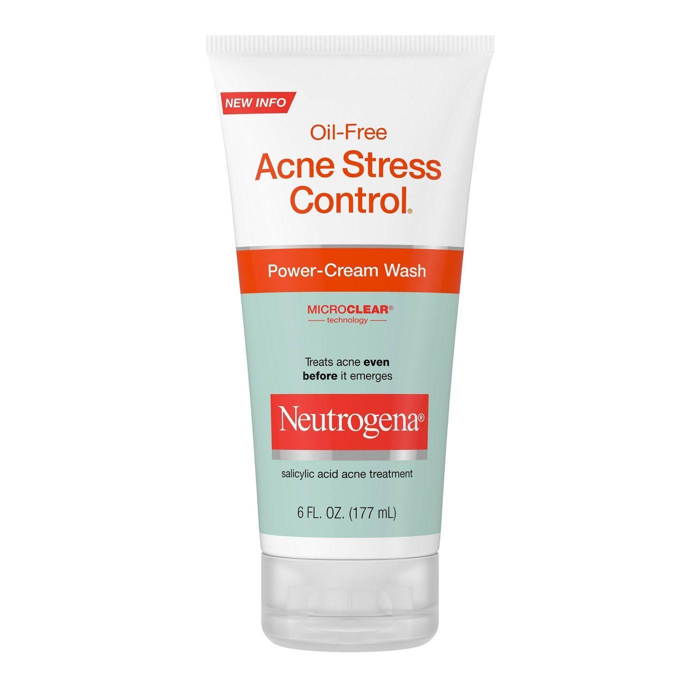 Neutrogena Oil-Free Acne Stress Control Power-Cream Wash 177g