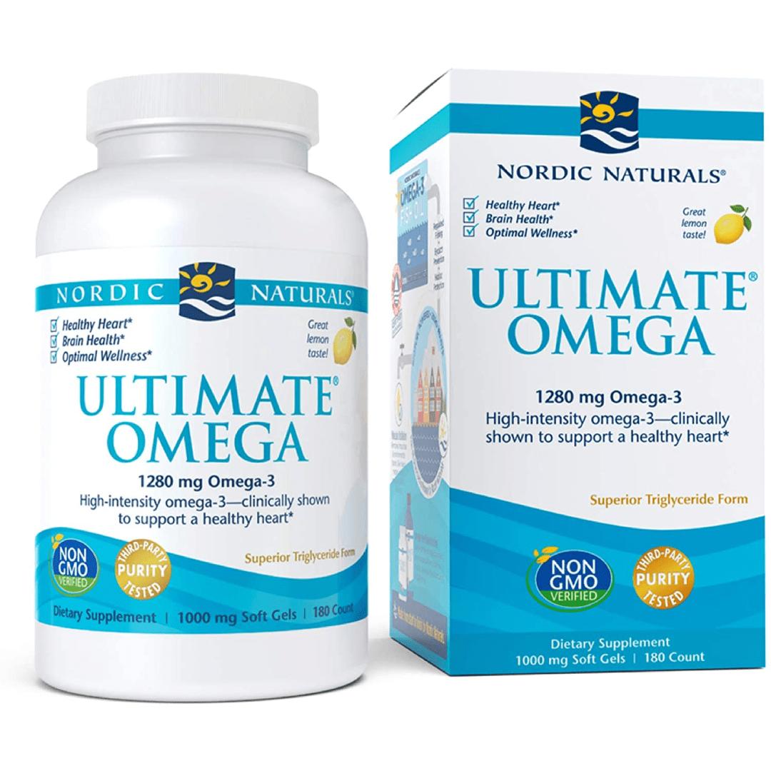 Nordic Naturals Ultimate Omega, Lemon Flavor – 1280 mg Omega-3-180 Soft Gels