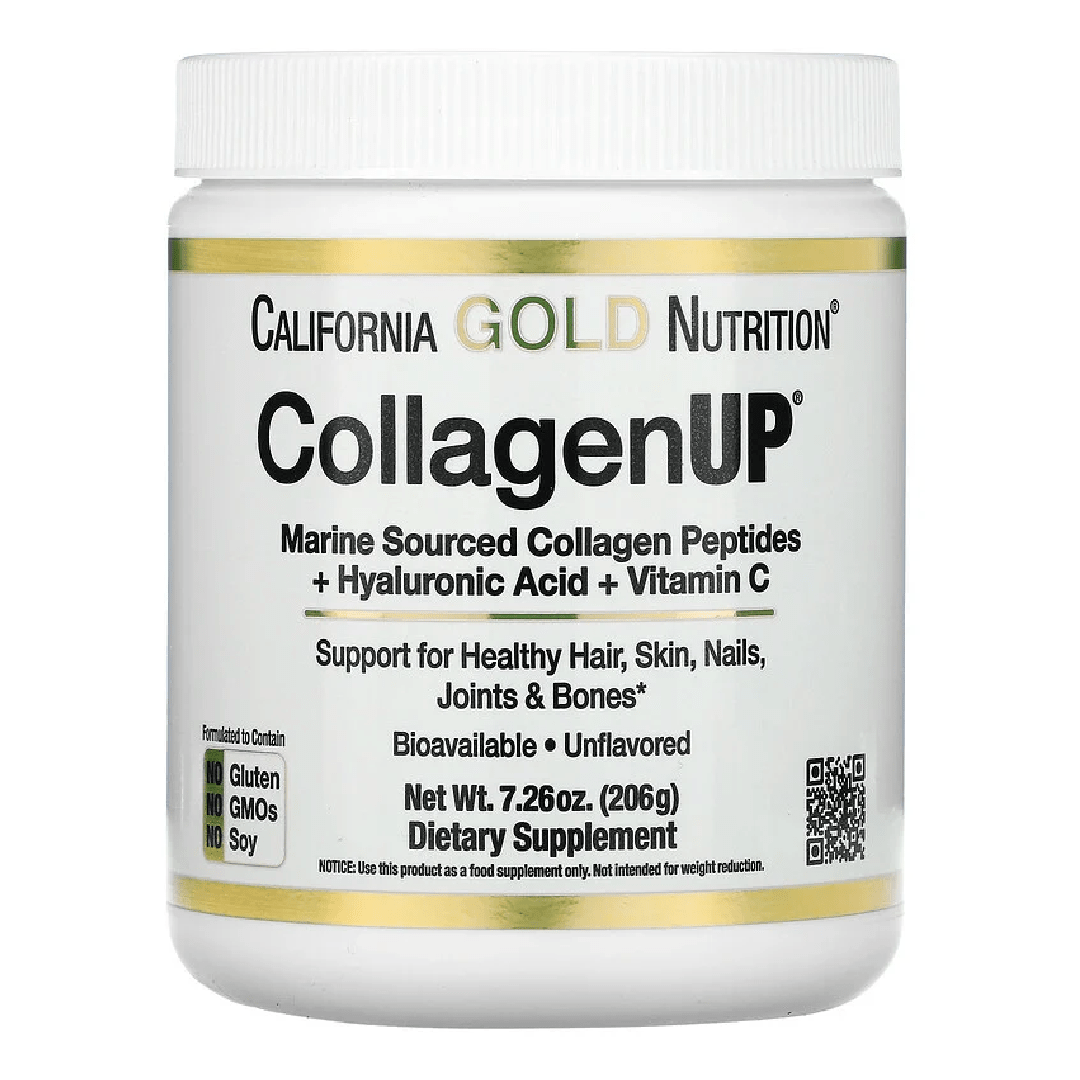 California Gold Nutrition, CollagenUP, Marine Hydrolyzed Collagen + Hyaluronic Acid + Vitamin C, Unflavored