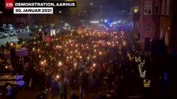 Denmark Anti-Lockdown COVID Protest Torches