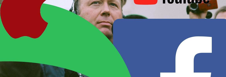 Free Speech Crisis Alex Jones Social Media Apple Facebook Spotify YouTube