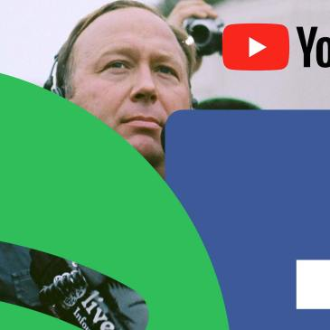 Free Speech Crisis Alex Jones Social Media Apple Facebook Spotify YouTube