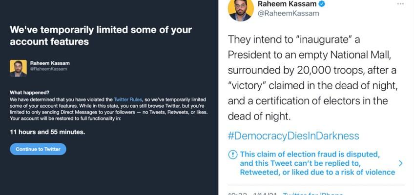 Raheem Kassam Suspended for Tweeting Democracy Dies in Darkness HEADER