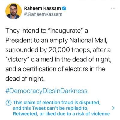 Raheem Kassam Suspended for Tweeting Democracy Dies in Darkness FEATURED