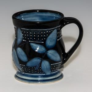Blue And Black Rose Mug
