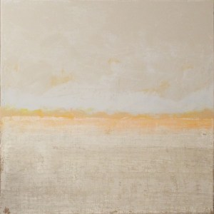 Morning Light-Oil And Cold Wax By Bob Worthy- Size 24in X 24in 2