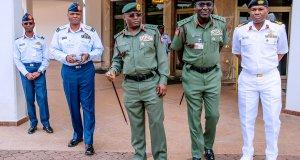 Nigerian's Service Chiefs After Meeting With President Muhammadu Buhari