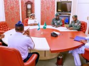 Insecurity: NSA Absent As Service Chiefs Meet Buhari, Kyari