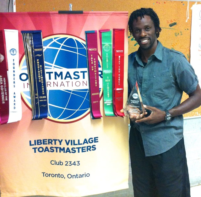 Clem wins Toastmasters of the Year 2013-2014