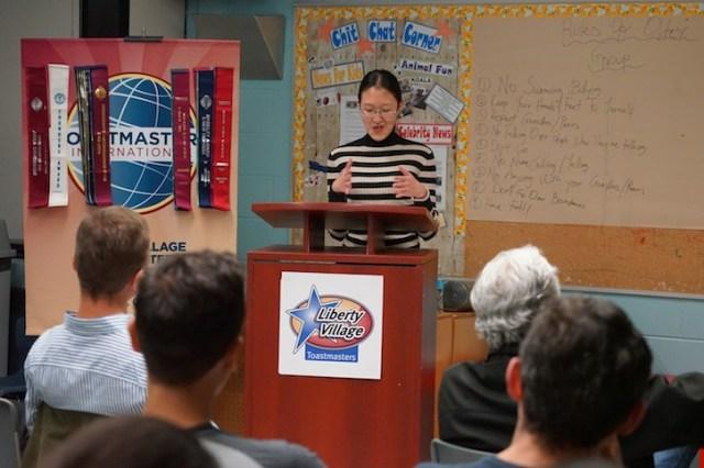 Angie evaluates Mark's speech