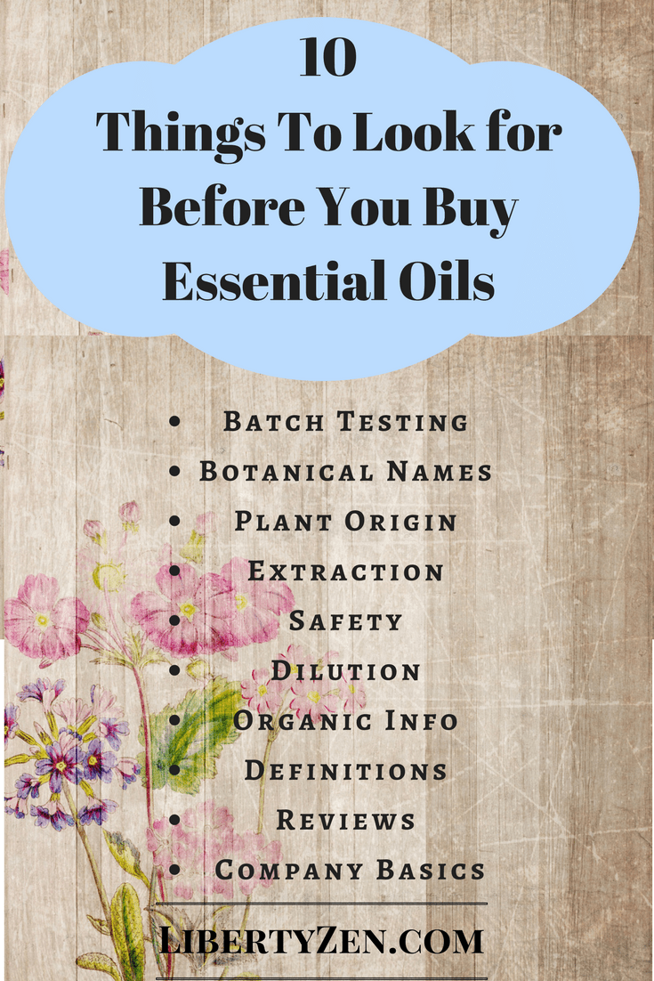 Essential Oil Information – Ten Things Websites Should Tell You