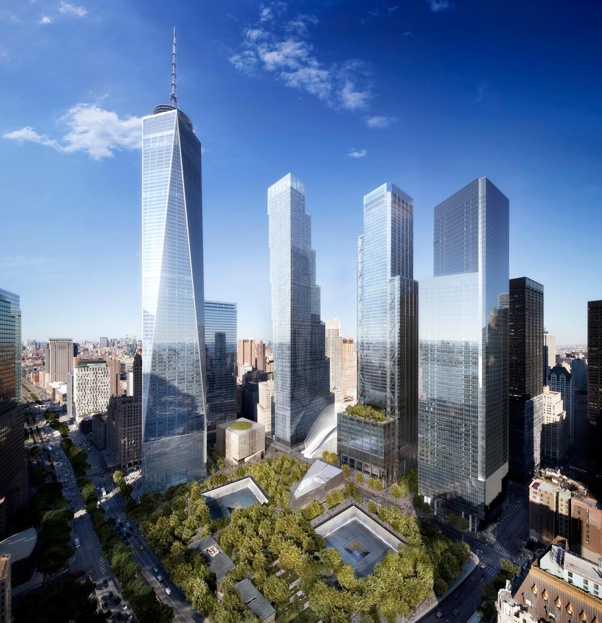 hight resolution of world trade center master plan