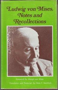 Book Cover: Mises, L. von (1978) Poznámky a vzpomínky