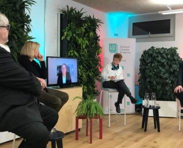 Diskussion mit Bernd Wagner, Ines Geipel, Norbert Frei, Petra Pau, Ralf Fücks, Foto: LibMod