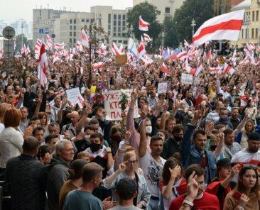 Proteste am 23. August 2020 in Minsk, Belarus, Foto: Castleski/Shutterstock