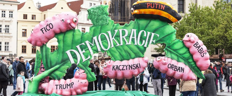 Festwagen zum Tag der Arbeit 2017 in Prag Foto: Shutterstock, Jolanta Wojcicka