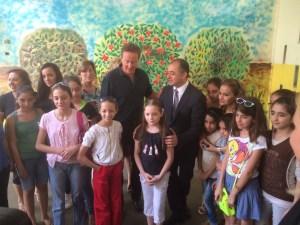 David Cameron avec le Ministre de l'éducation Elie Bou Saab. Crédit Photo NNA