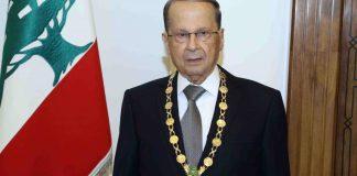 Le Président de la République, le Général Michel Aoun. Crédit Photo: Dalati & Nohra