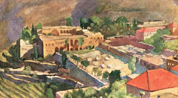 Une peinture de Saliba Doueihi, le Palais de Beiteddine.