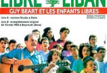 Guy Béart chantant Liban Libre. Couverture d'album