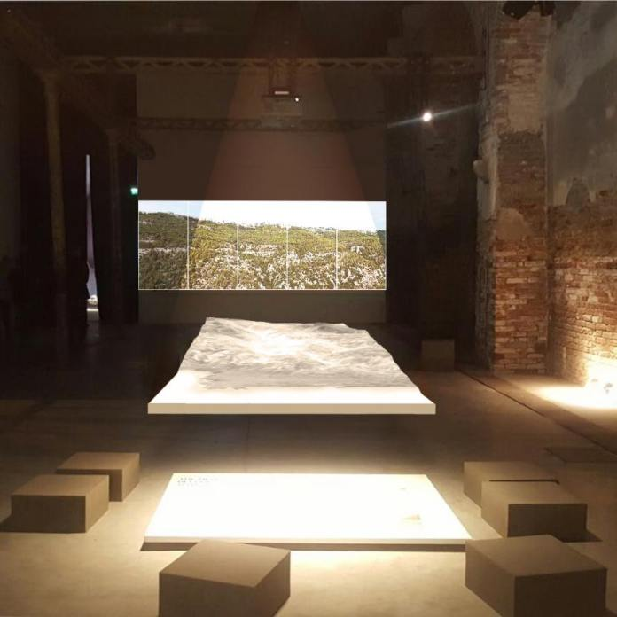 Perspective View of the Lebanese Pavilion. ©️ Hala Younes Architecture and Landscape