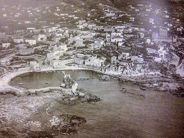 Vue aérienne du site archéologique de Byblos