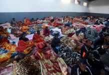 Un centre de rétention de migrants dans les faubourgs de Tripoli (Libye), le 11 décembre 2017. Mahmud Turkia / AFP