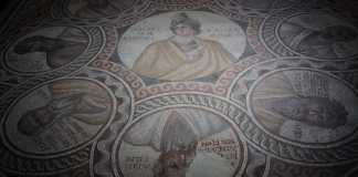 Mosaiques des 7 sages, Baalbeck 3ème siècle après JC. Musée National de Beyrouth, Liban. Crédit Photo François el Bacha. Tous droits réservés. Voir condition d'utilisation sur http://larabio.com