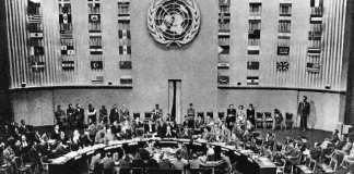 L'adoption de la déclaration universelle des droits de l'Homme à l'ONU.