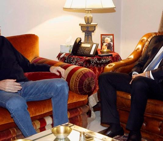 Saad Hariri avec Walid Joumblatt. Crédit Photo: Dalati & Nohra