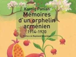 La couverture du Livre de Karnig Panian, mémoires d'un orphelin arménien 1914 -1920