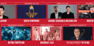 Le programme 2019 du Festival de Baalbeck