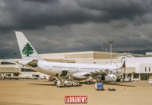 Un avion de la Middle East Airlines (MEA) à l'aéroport international de Beyrouth. Crédit Photo: Libnanews.com