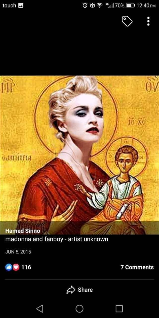 Hamed Sinno Machrou3 Leila icône madonna