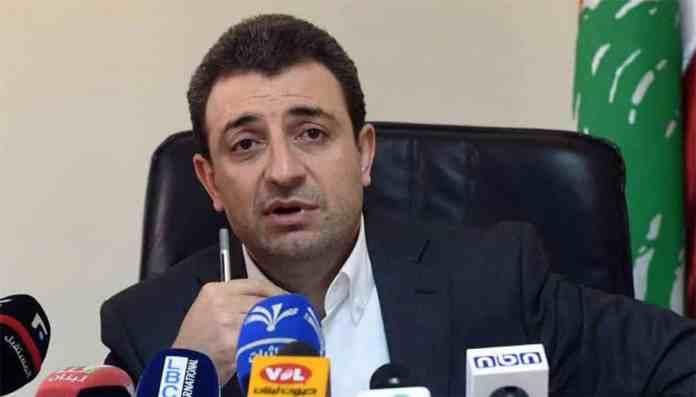 La conférence de presse du Ministre de l'Industrie Waël Bou Faour au sujet de l'incident de Qabr Chamoun