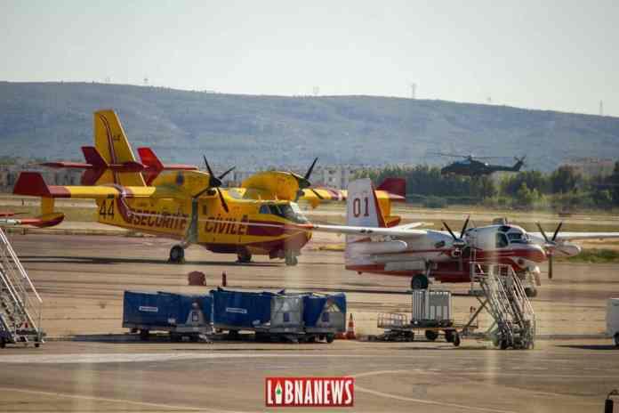 Un Canadair et un Tracker stationnés au Sud de la France en 2014. Crédit Photo: François el Bacha pour Libnanews.com. Tous droits réservés.